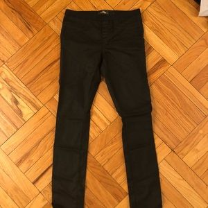 The Castings waxed black skinny jeans, size 8